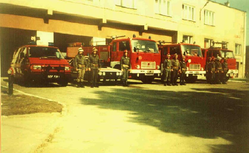 Lipiec 1992r.- pierwsze ślubowanie strażaków Komendy Rejonowej Państwowej Straży Pożarnej.